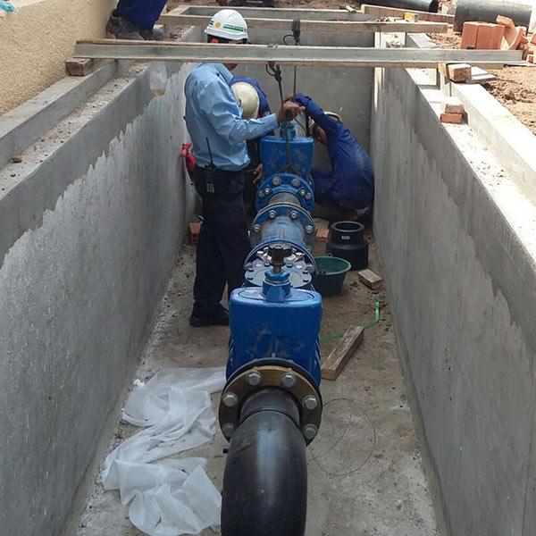 gate valve, valve chamber