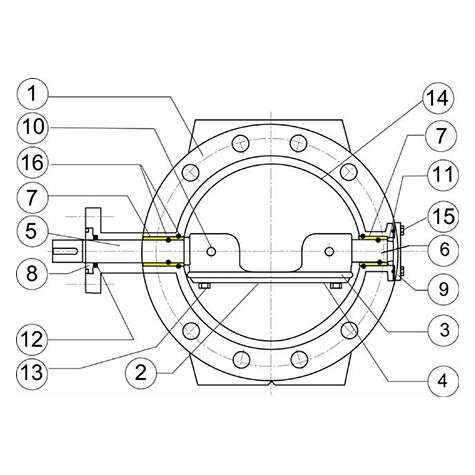 Butterfly Valve EUROSTOP - Motorizable type - Reinforced version   (Heavy Duty)