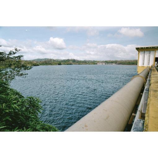 Bridge crossing pipe laying - water - ductile iron pipe - Saint-Gobain PAM