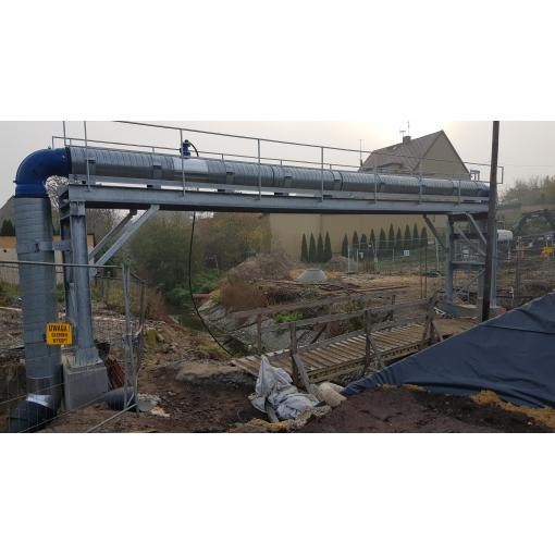3 PAM systems for a water supply pipeline