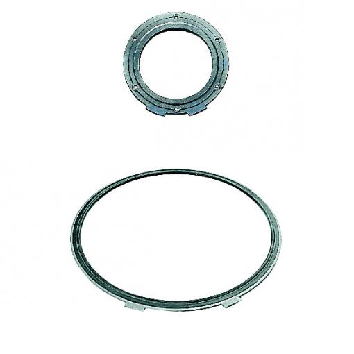 Metal-reinforced gasket for flanged ductile iron valves and fittings