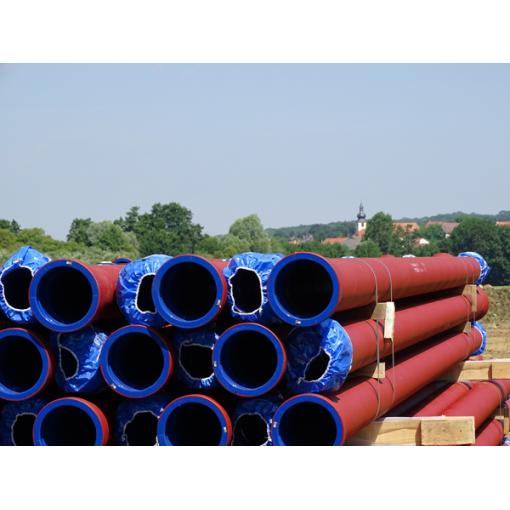sewage small diameter pipe worksite