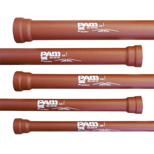 small diameter ductile iron pipe, DN 75 90 110 125 140 160