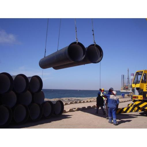 ductile iron pipe handling