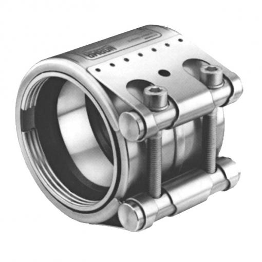 Anchored coupling FIX Link for PVC or PE tubes