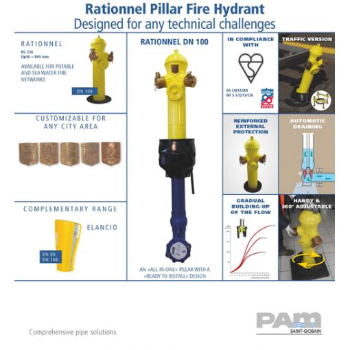 Pillar Fire Hydrant Rationnel DN100 BS336