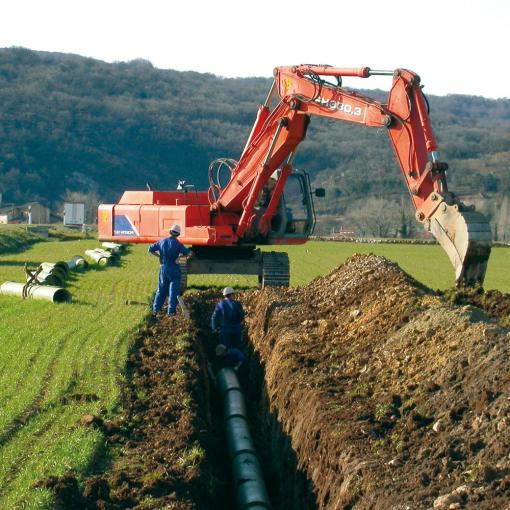 PAM services - Worksite assistance - ductile iron pipes for irrigation