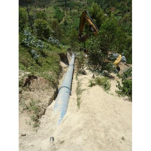 Kisaga Hydropower - Musanze District - Natural Ductile iron Pipes