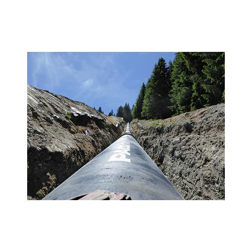 Underground ductile iron pipe installation