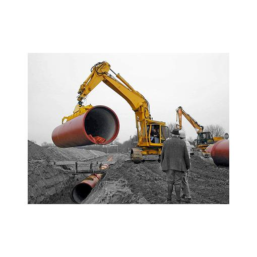 Ductile iron pipe layout