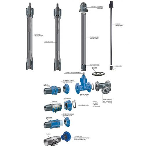 EURO 20 - sewerage gate valve - Saint-Gobain PAM - water