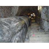 Pipe laying through tunnels