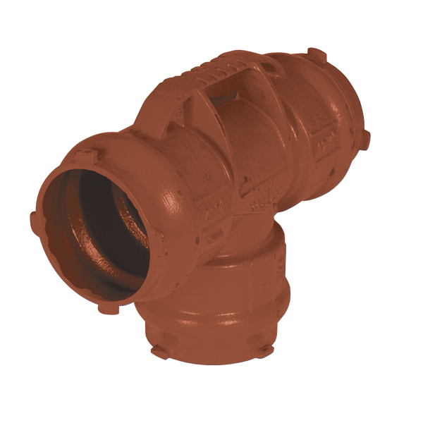 sewage ductile iron all socket tee