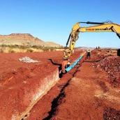 ductile iron pipelaying, australia