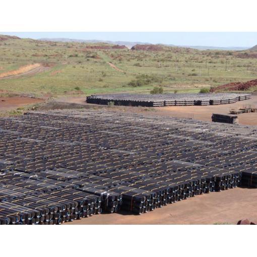 ductile iron pipe stockyard