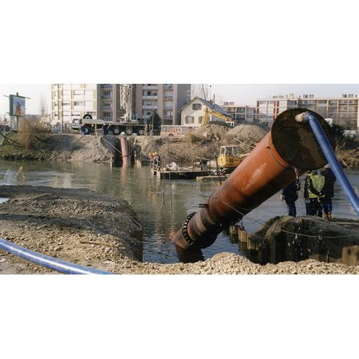 Underwater pipe laying - water - Saint-Gobain PAM - ductile iron pipes