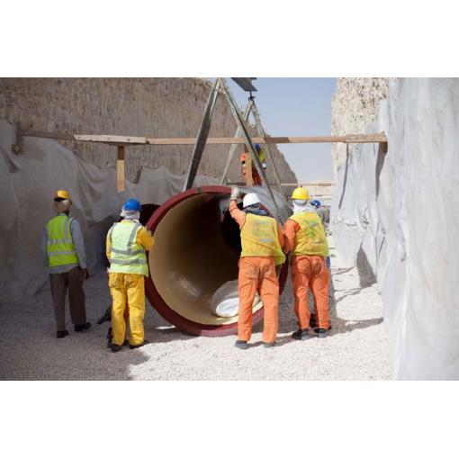 qatar sewage network, pipelaying