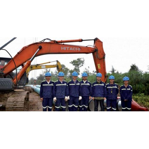 pipelaying team, work site